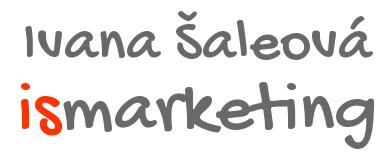 Ivana Šaleová - marketing a reklama na internetu